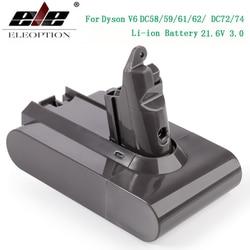 3000 MAh 21.6V 3.0 Baterai Li-ion untuk Dyson V6 DC58 DC59 DC61 DC62 DC74 SV09 SV07 SV03 965874- 02 Vacuum Cleaner Battery 2.2 MAh