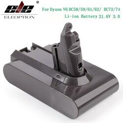 3000mAh 21,6 V 3,0 batería de ion de litio para Dyson V6 DC58 DC59 DC61 DC62 DC74 SV09 SV07 SV03 965874-02 aspiradora y batería 2,2 mAh