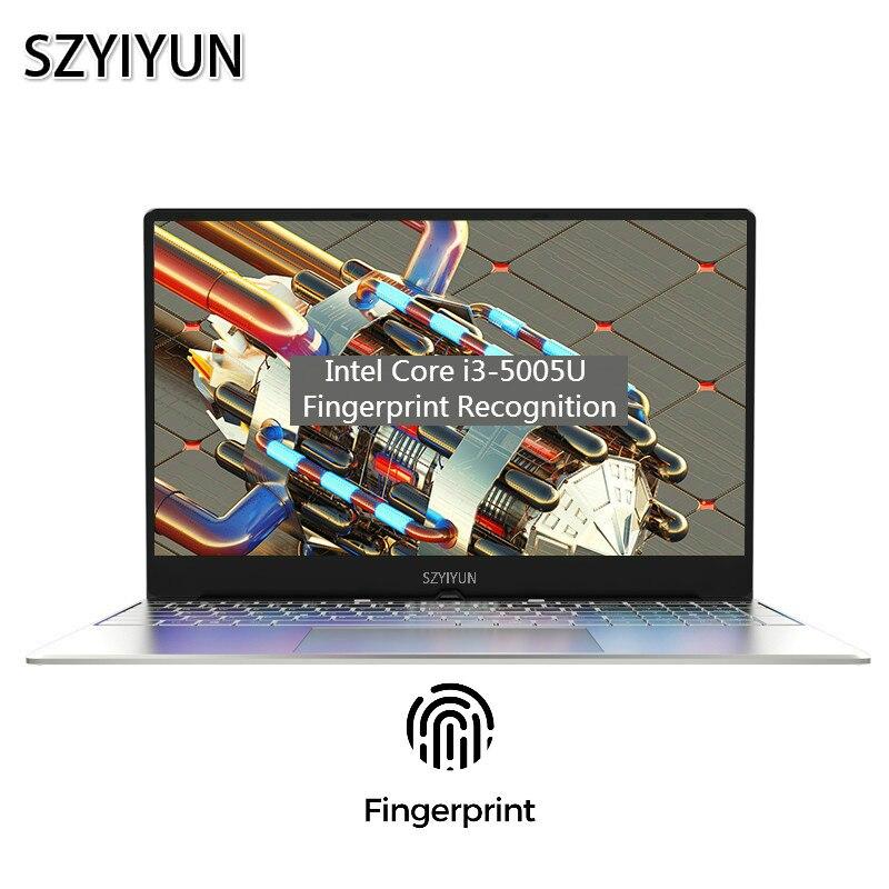 15.6 Inch Core I3 Fingerprint Unlock Laptop 1920*1080P 8G RAM Gaming Notebook Business Office Computer Portable Student Netbook