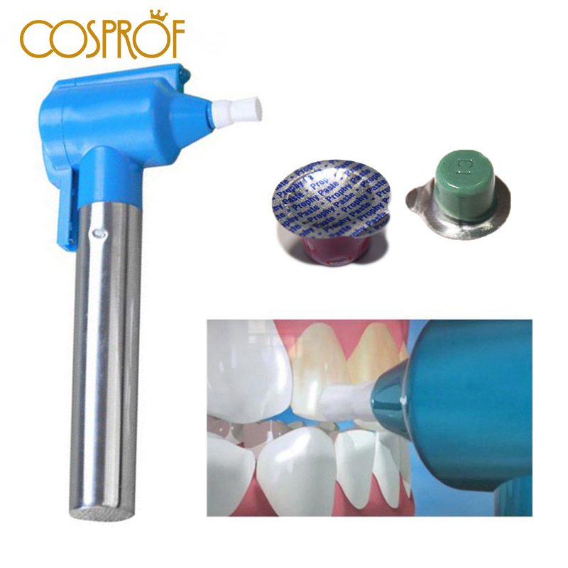 3pcs/set Professional Polishing Whitening Teeth Burnisher Polisher Whitener Stain Remover With 2 Pcs Polishing Paste
