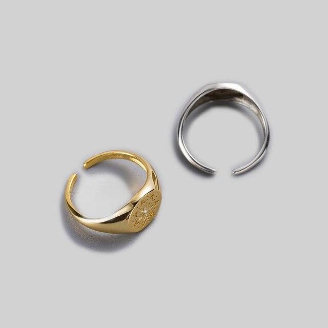 Фото leouerry 925 пробы серебряные креативные кольца с гравировкой цена