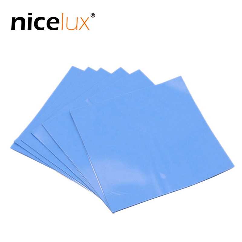 1pcs New GPU CPU Heatsink Cooling Blue Conductive Silicone Pad Thermal Pad High-quality 100mm*100mm*0.5mm Computer Host Radiator