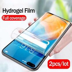 На Алиэкспресс купить стекло для смартфона 2pcs 100d cover hydrogel soft film for huawei p40 pro p 40 lite light e 5g 2020 p40pro plus screen protector not tempered glass