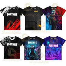 Fortnites Adult Children's Clothing 3D Digital Printing Loose Large Size Short-sleeved T-shirt Kids Summer Tee Tops