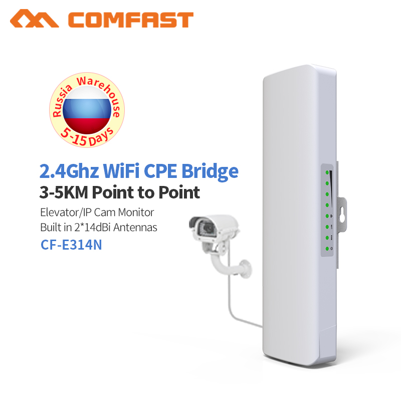 300Mbps Wireless Outdoor CPE Bridge 2.4G 2 *14dBi Directional Wifi Antenna Long-Range Point-to-Point Wireless Access Work Bridge