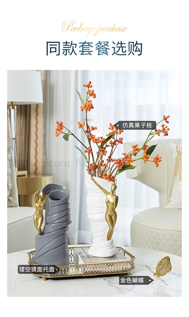 criativo simples sala estar entrada arranjo flores secas decoração casa