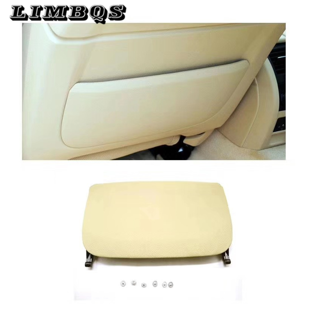 Car Seat Back Board For BMW F10 F11 F07 F02 Series Rear Backrest Panel Part Genuine Leather Cover Leather Cover Storage Pocket