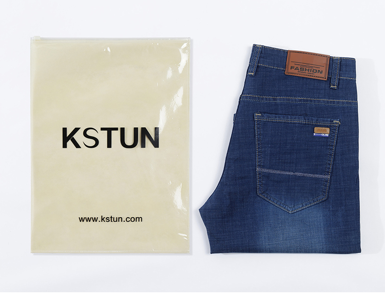 Summer Shorts Men Jeans Straight Solid Blue Stretch Thin Regular Fit Business Casual Breathable