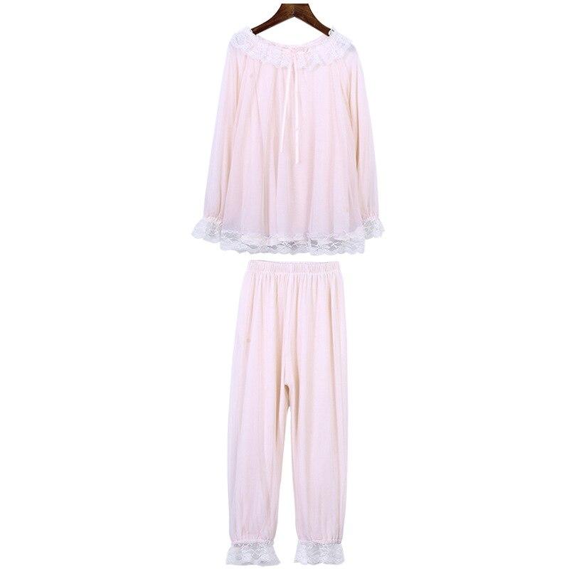 Pyjamas pour enfants filles printemps et automne à manches longues filles bébé princesse doux vêtements pour enfants service à domicile costume mince - 5