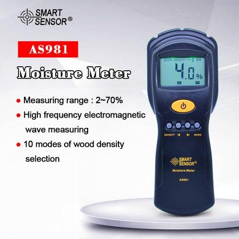 Medidor de Umidade de Madeira Testador de Umidade para Papel Não-contato Digital Higrômetro Madeira Compensada Umidade Medida Lcd Backlight As981 –