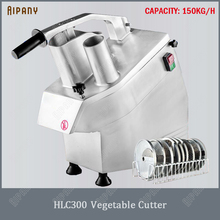 HLC300 commercial vegetable cutter multifunctional fruit vegetable slicer cutting machine electric vegetable cutter machine electric vegetable cutting machine 200 kg h automatic vegetable shreadding slicing machine commercial vegetables cutter