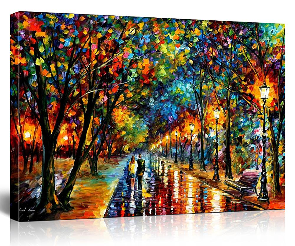WEEN  Night Street DIY Painting By Numbers, Beach Boat All Art Picture For Living Room,canvas Paintings 16x20inch