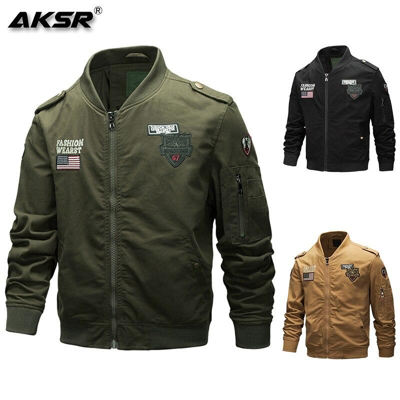 AKSR мужская куртка военная куртка Мужская модная одежда летная Куртка удобная, мягкая и эластичная ткань - 4
