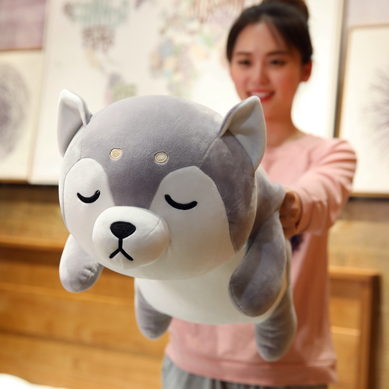 New Huge 35 75CM Cute Corgi & Shiba Inu Dog Plush Toys Kawaii Lying Husky Pillow Stuffed Soft Animal Dolls Children Baby Gift|Stuffed & Plush Animals|   - AliExpress
