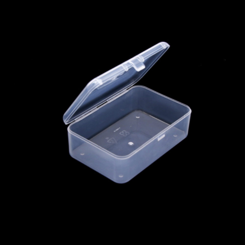Top Selling Transparent Plastic Storage Box Clear Square Multipurpose Display Case Plastic Jewelry Storage Boxes Pills Objects