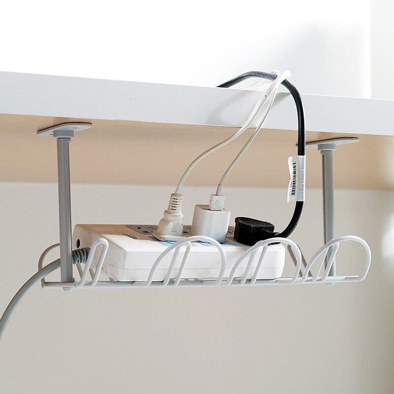 Подставка для хранения под столом, полка для кабеля, настольная подставка, подвесная стойка, отделка линий, органайзер для кабеля для дома и офиса|Подставки для хранения и стеллажи| | АлиЭкспресс - Товары для домашнего офиса