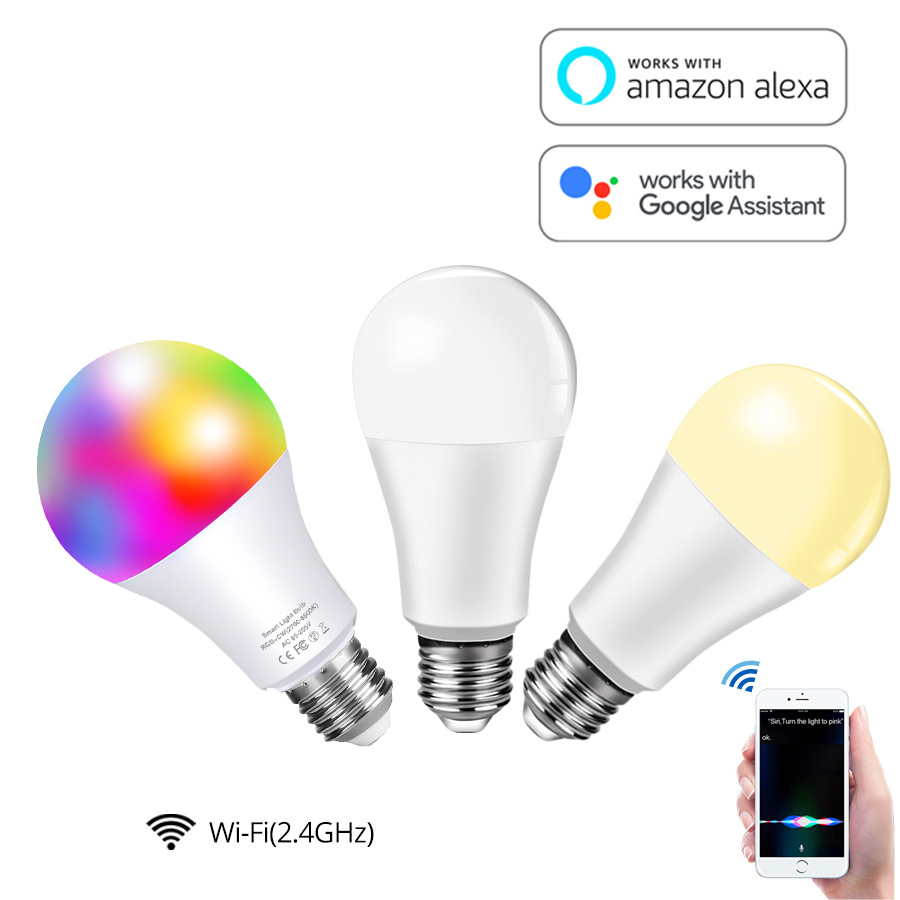 Смарт светильник почки работают с Alexa Echo Google Home Assistant IFTTT и Siri E27 WiFi LED Диммируемый голосовой пульт дистанционного управления