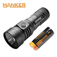 Manker U23 2000 Lumens XHP 35 HD LED Flashlight Type C USB Torch W 5000mAh Rechargeable 26650 Flashlight USB Flashlight Led