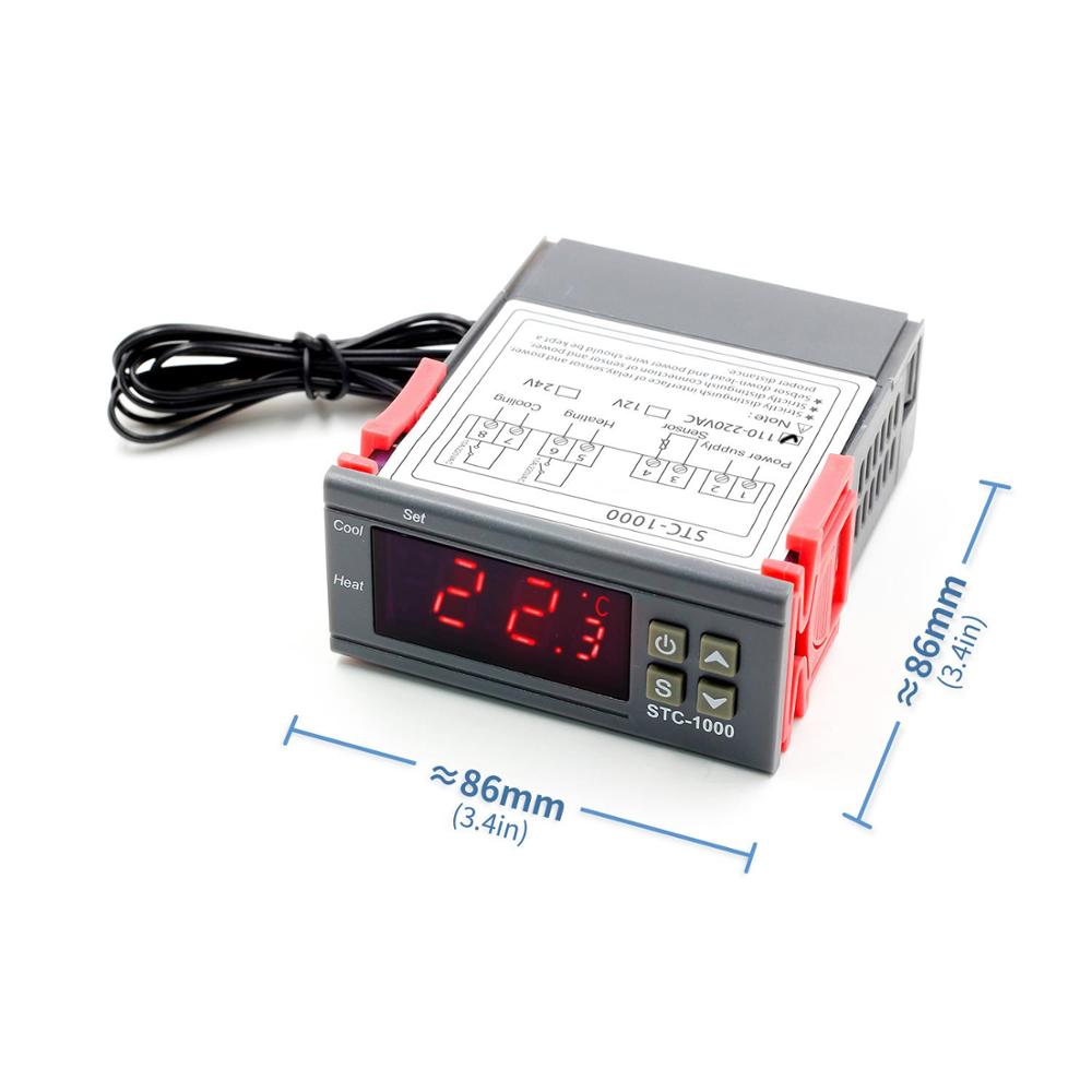 Digital Temperature Controller Thermostat Thermoregulator for incubator <font><b>Relay</b></font> LED 10A Heating Cooling STC-1000 12V <font><b>24V</b></font> <font><b>220V</b></font> image