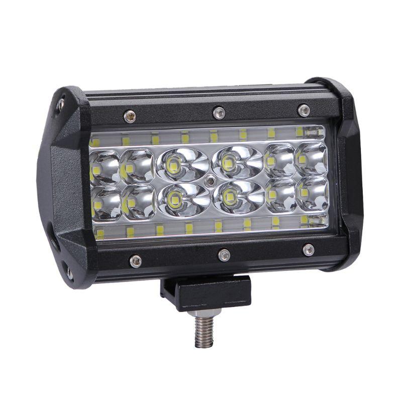 Four Row Automobile Work Light Single Strip Light Spot Driving Illumination For Jeep UTV ATV Auto Off Road Vehicles Truck Motor|Decorative Lamp| |  - title=