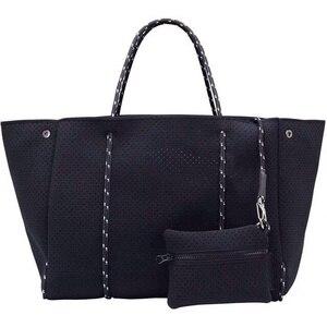 Image 1 - Женская сумка тоут из неопрена, большой светильник для покупок, 2020