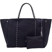 2020 럭셔리 여성 토트 Crossbody 큰 쇼핑 Neoprene 가방 빛 여성 핸드백 Bolsas 여성 가방 지갑 가방