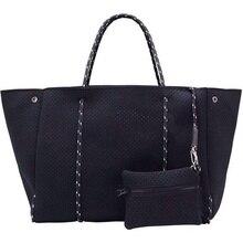 Bolsa transversal grande de neoprene feminina, bolsa leve de mão luxuosa para mulheres, bolsa de mão, 2020