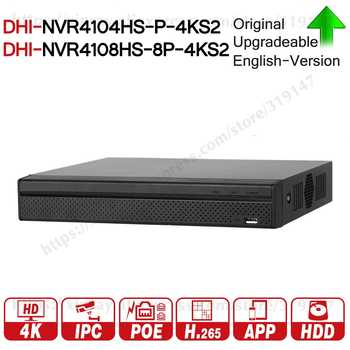 Dahua NVR NVR4104HS-P-4KS2 NVR4108HS-8P-4KS2 With 4/8ch PoE Port H.265 Video Recorder Support ONVIF CGI Metal POE NVR. - SALE ITEM - Category 🛒 Security & Protection