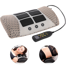 Pillow Herniation-Massage Cervical-Spine Elec-Physiotherapy Lumbar Pain-Relief Pulse
