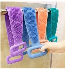Żel silikonowy peeling do kąpieli pędzel listwowy masaż powrót ściera taśma kąpielowa długie plecy tarcie jednostronne silikonowe peeling ciała skóry łazienka
