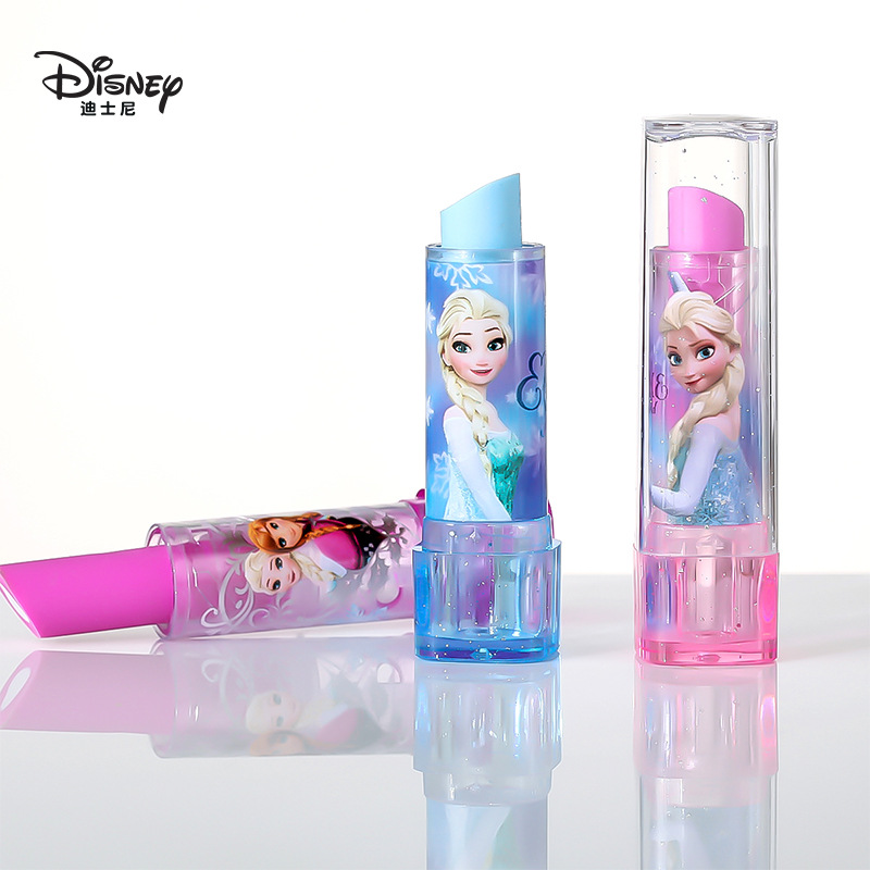 Disney Cute Lipstick Eraser Frozen Sophia Novelty Stationery Cute Eraser Student Gift School Supplies