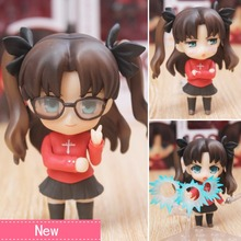 Anime Fate Stay Night Rin Tohsaka PVC Action Figure Collectible Model doll toy 10cm 409# japanese anime fate stay night 25cm pvc archer tohsaka rin collectible model kids toys doll brinquedos
