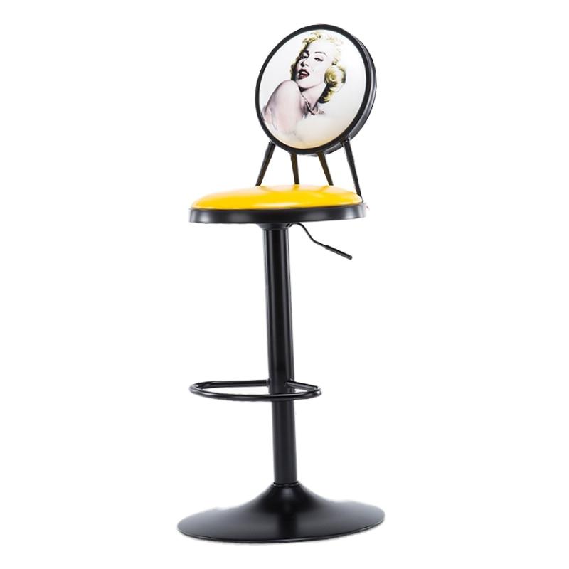 Iron Lift Bar Chair Bar Table And Chair Modern Minimalist High Bar Stool Creative Front Desk Bar Chair