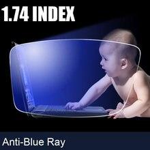 Оптические очки по рецепту anti blue ray индекс 174 стандартные