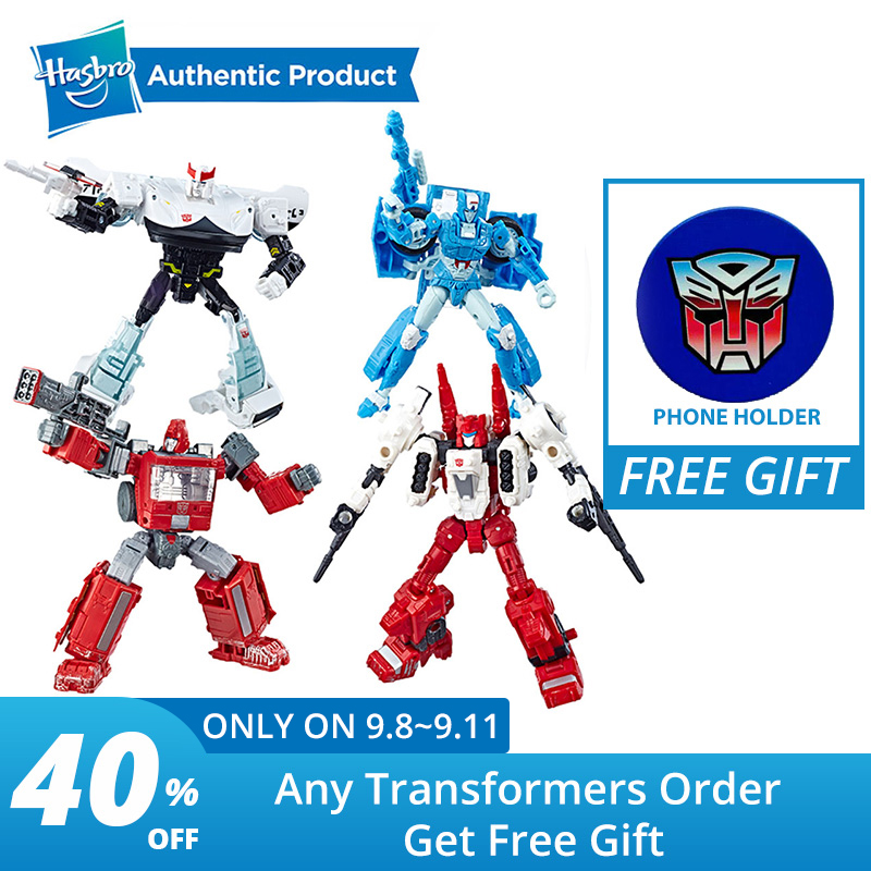 Hasbro Transformers 5.5-Inch Generations War For Cybertron Deluxe Action Figure Ironhide Chromia Prowl Sixgun Model Vehicle W24