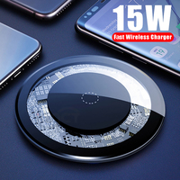 Iphone 11 pro max x xs max xr 용 15 w 무선 충전기 삼성 galaxy s9 + s10 + 용 무선 충전 패드