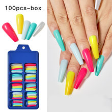 100 шт/кор накладные ногти красочные Ложные ногати Искусственные
