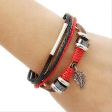 Creative Wings Pendant Leather Bracelet & braided beaded wristband for men & adjustable Jewelleryfor women punk& student Bangles