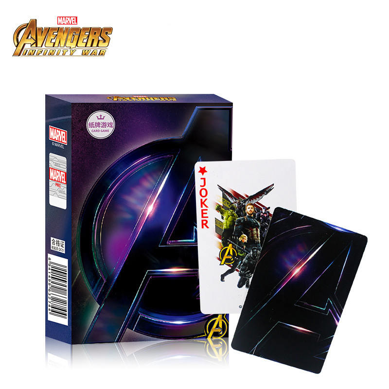Marvel Avengers 4 Endgame Captain America Ironman Spiderman Thor Ultra Venom Wolverine Playing Cards Boy Girl Toy