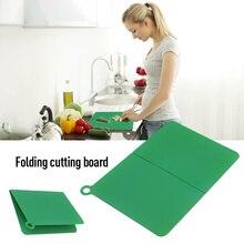 Antypoślizgowa deska do krojenia plastikowa składana deska do krojenia przenośna deska kuchenna elastyczna deska do gotowania na kempingu akcesoria kuchenne