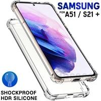 Custodia in Silicone trasparente di lusso per Samsung Galaxy S21 S20 FE Note 20 Ultra S10 S9 S8 10 Plus Lite 9 8 A52 a51 A71 A12 A50 A70 A40 A41 A32 A31A21 A20 A21S A20E M21 M31 M31S M51 Cover antiurto