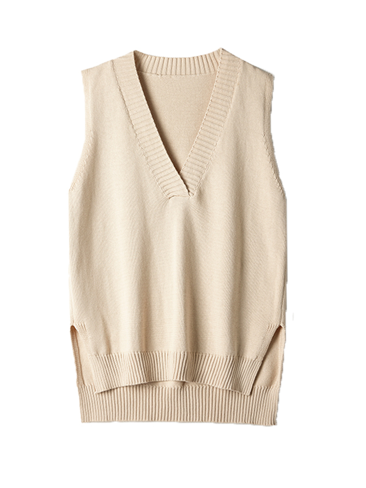 Sweater Vest V-Neck Loose Autumn Korean Winter New And Sleeveless Wild
