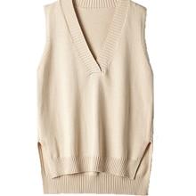 Sweater Vest V-Neck Loose Wild Autumn Korean Winter And Sleeveless New