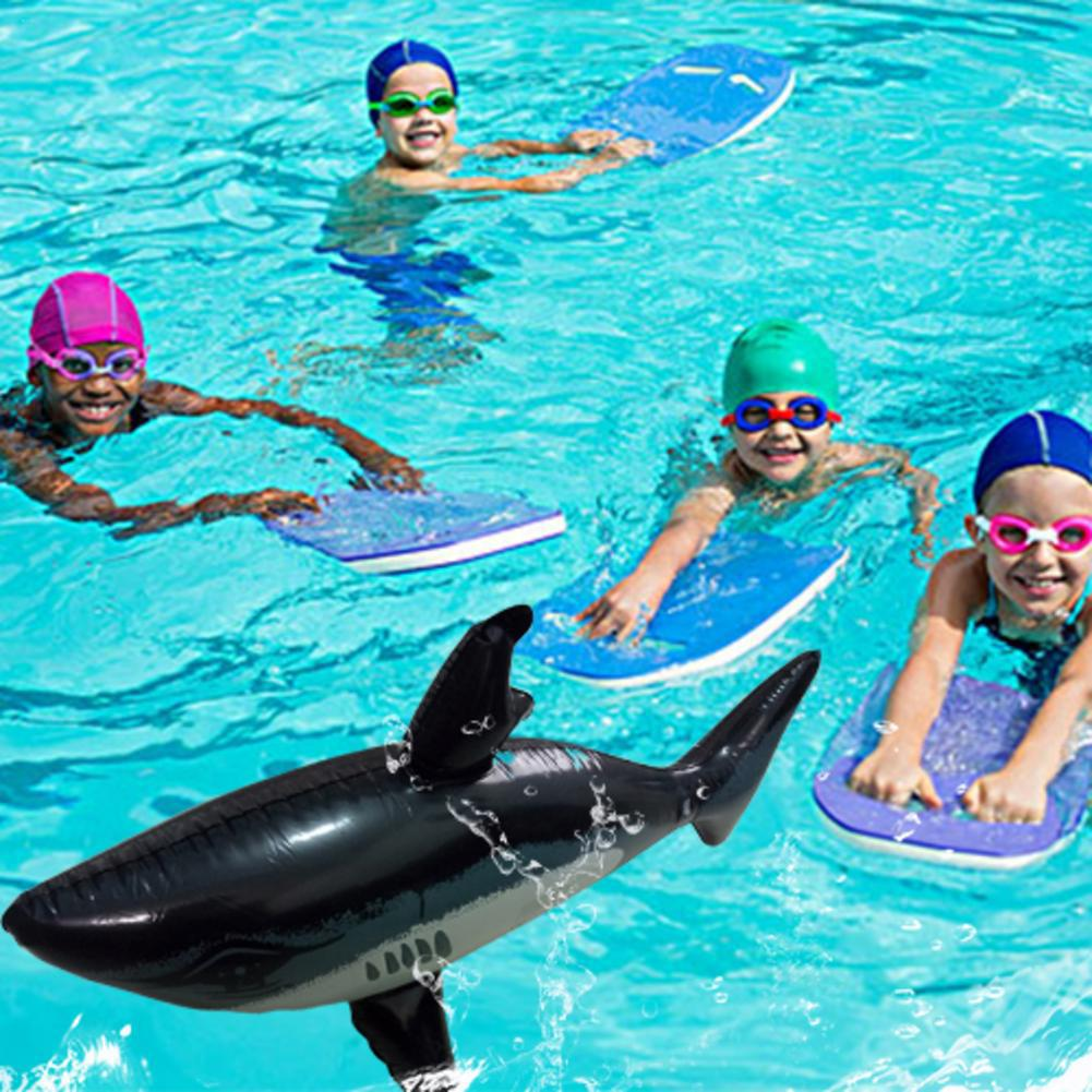 1Pc Inflatable Shark Toy Cute Simulation Shark Baby Children Inflatable Floating Swimming Pool Water Toy Length 80cm