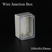 100x68x50mm ABS IP65 Waterproof Plastic Wire Junction Box Clear Distribution Enclosure Project Case Electronic Transparent