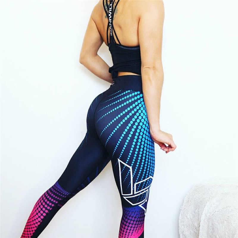 Leggings do esporte das mulheres calças de yoga workout roupas de fitness jogging correndo calças de ginástica estiramento imprimir leggins