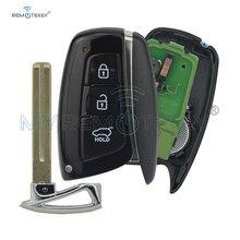 New style Smart car key for Hyundai Santa Fe IX45 2013 2014 3 button 433mhz ID46 electronic chip 7952 keyless entry remtekey