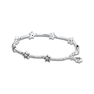 Image 1 - Christmas Celestial Stars Bracelets For Jewelry Making Sterling Silver Jewelry For Woman DIY Fashion Bracelets