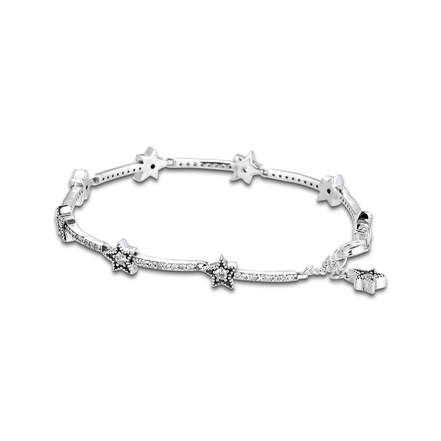 Christmas Celestial Stars Bracelets For Jewelry Making Sterling Silver Jewelry For Woman DIY Fashion Bracelets