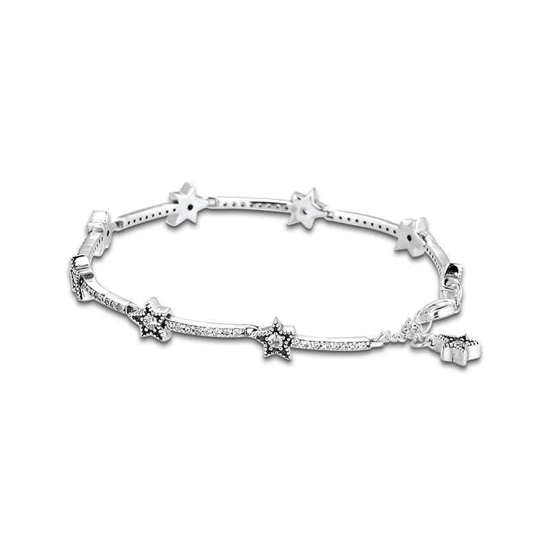 Christmas Celestial Stars Bracelets For Jewelry Making Sterling Silver Jewelry For Woman DIY Fashion Bracelets